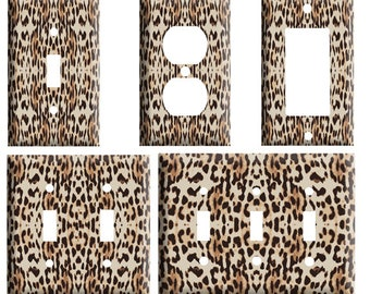 Leopard Print Light Switch Plate Etsy