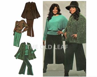 Khaliah Ali Pattern for Womens Gauchos, Cape Coat, Top & Skirt, Simplicity 3991, UNCUT