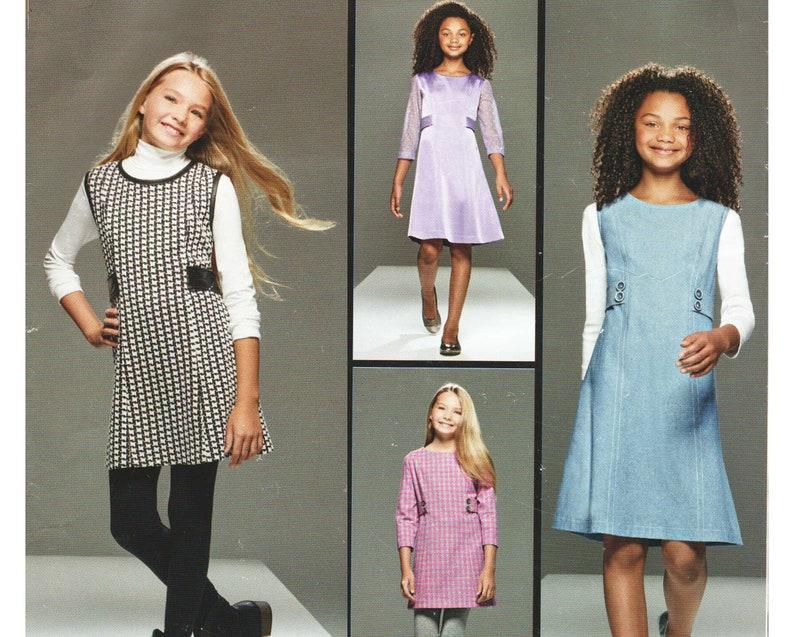 Plus Size Girls Jumper Dress Pattern Project Runway Sewing | Etsy