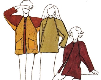 Sewing Pattern for Baseball Jersey Top & Jacket, Park Bench Pattern 9, UNCUT