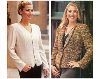 Sewing Pattern for Jacket with Vest Front by Loes Hinse 5108, UNCUT