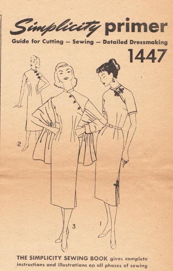 Jahrgang chinesisches Kleid Muster asiatischen Qipao Cheongsam   Etsy