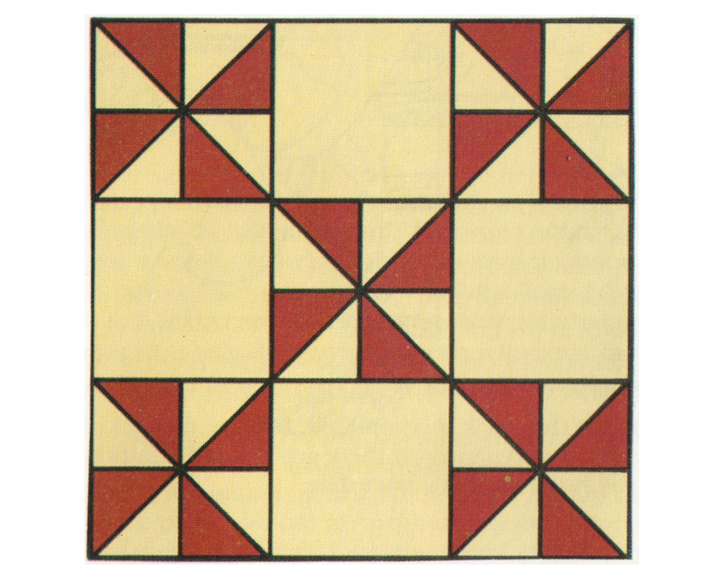 Pinwheel Quilt Block Quilting Templates - 12 Inch Square - The Quiltery