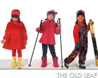Sewing Pattern for Toddler Fleece Top, Dress & Jumpsuit, Easy Vogue 9555, UNCUT