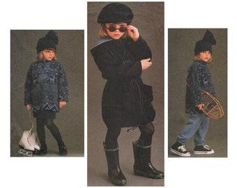 Sewing Pattern - Toddler Hooded Coat, Half Zip Fleece Top & Hat, Vogue for Me 9106, UNCUT