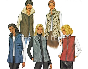 Sewing Pattern for Quilted, Denim or Fur Vest, Easy Butterick 3257, UNCUT