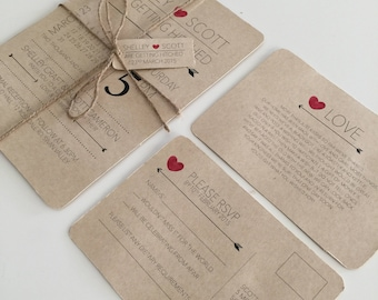 Wedding Invitation Kits Etsy AU