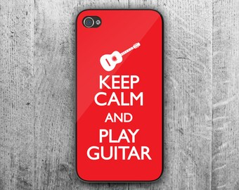 Keep Calm and play GUITAR phone case. Case For - iPhone 4/4S - iPhone 5/5S - iPhone 5C - iPhone 6/7 - iPhone 6/7 Plus. Novelty. Gift.