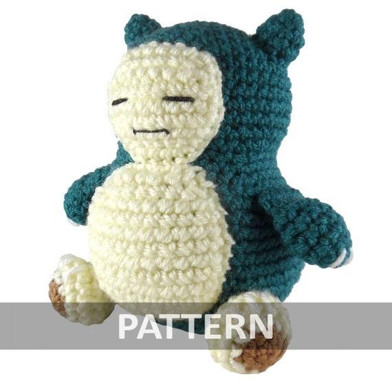 PATTERN Snorlax Amigurumi Crochet Plush PDF   Etsy