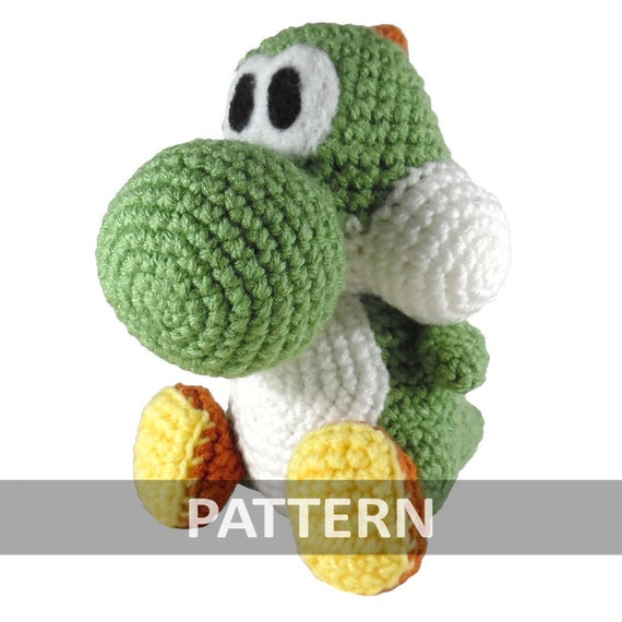 Yoshi-inspired amigurumi PDF WRITTEN PATTERN (digital item ... | 570x570