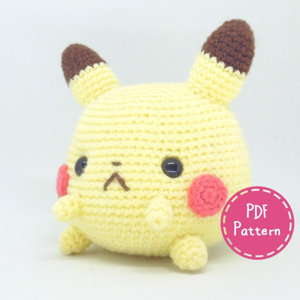 Pattern Chubbachu Pikachu Chubby Amigurumi Crochet Plush Pdf Etsy