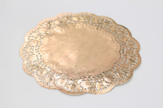 "50-12/"" GOLD Metallic FOIL Paper Lace DOILIESGold Doily Plate Chargers"