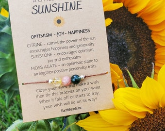 Cheer Up Gift, Happiness Gift, Thinking of You Gift, Gifts for Her, Sunflower Bracelet, Summer Anklet for Girls, Best Friend Gift