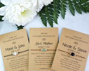 Wedding Favours for Guests, Personalized Wedding Thank You Gifts, Thank You For Being Part of Our Special Day, Handmade in Canada