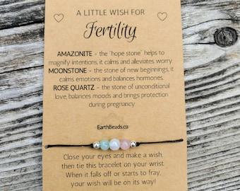 Fertility Bracelet, Fertility Gift, Fertility Wish Bracelet, Fertility Jewelry, Pregnancy Gift, Gifts for Her, Baby Shower, Mom To Be Gift