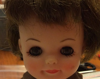 """Vintage 1960's Effanbee Fluffy 8"""" Brownie Scout Doll"""
