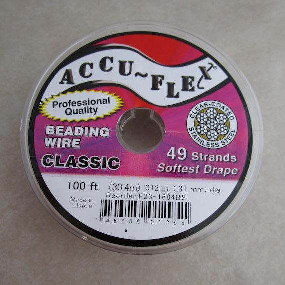 30-Feet Soft Flex 0.019-Inch Beading Wire Grey