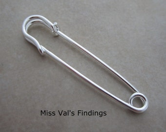 12 silver kilt pins 2 inch