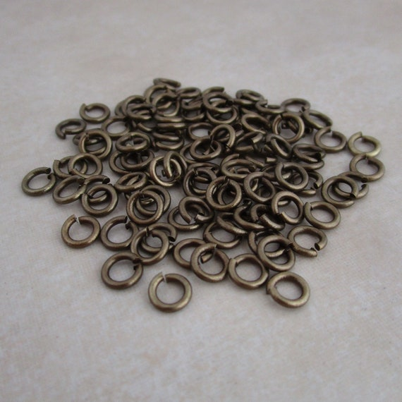 5mm 18gauge 50pcs BRASS Silver Plated Open Jump Rings Findings Earring Necklace