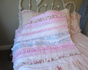 RAG QUILT PATTERN Ruffled Rows Rag Quilt Instant Download