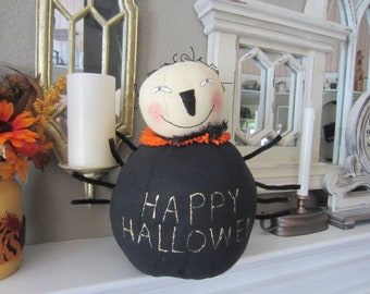 FRIDA THE SPIDER Large Spooky Fat Black Spider For Halloween Decor
