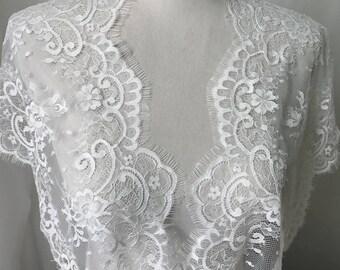 SALE Ivory Eyelash Lace, Scalloped Chantilly Lace, Ivory Lace Wider For Spitze Schwarz, Mantilla, Shawls, Lingerie
