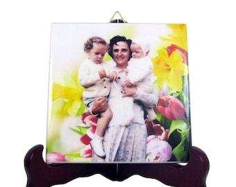 Saint Gianna Beretta Molla - collectible ceramic tile - italian saints - St Gianna Molla - Santa Gianna - patron saint of unborn children