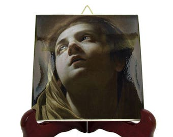 Holy art - Virgin Mary icon on ceramic tile inspired by Simon Vouet - Our Lady icon - religious art - catholic gifts - catholic home decor
