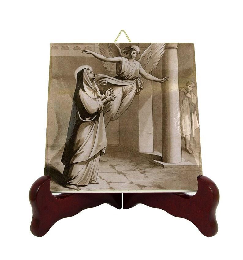 St Ermelinda Saint Ermelinda saints art icon on ceramic tile catholic saints serie Saint Linda