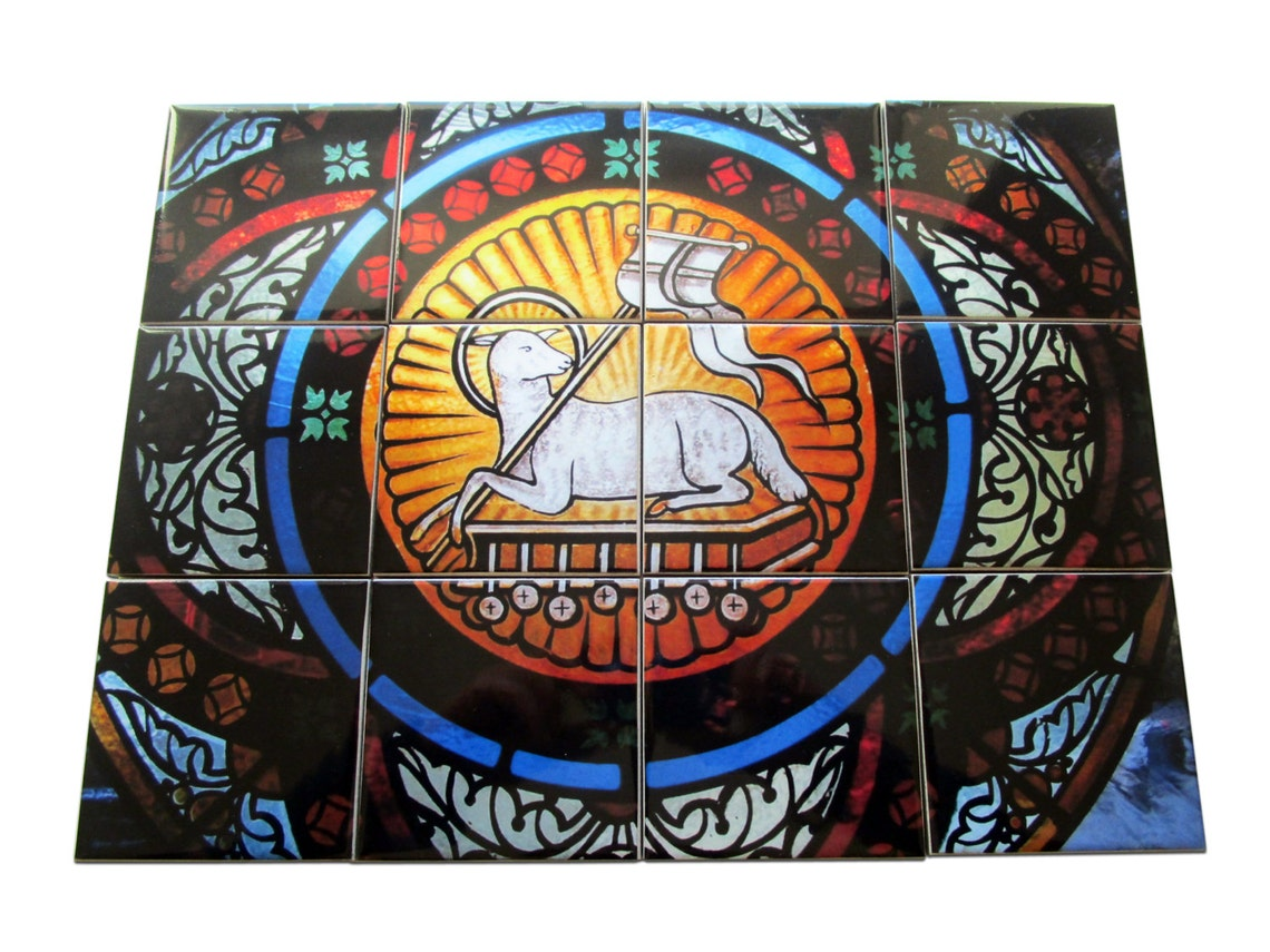 Christian wall art  Lamb of God  christian gifts  Religious image 0