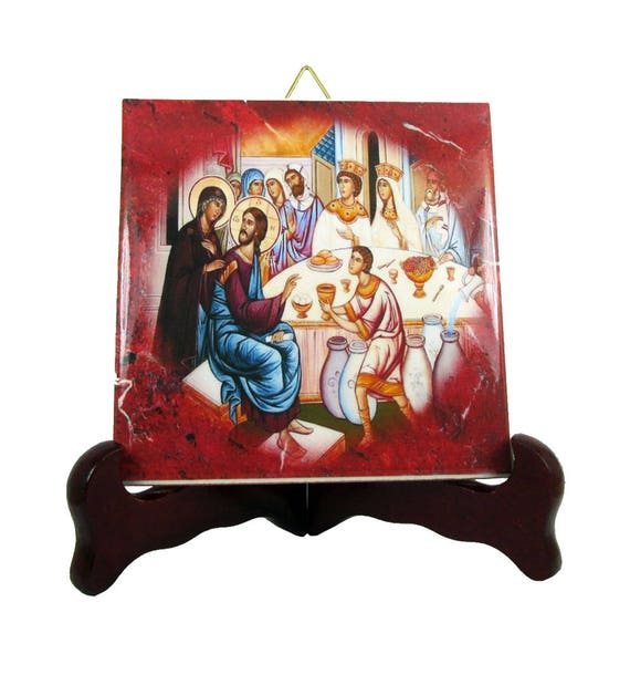 Christian Icon The Wedding At Cana Religious Plaque Etsy