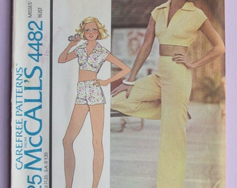 b1b66ebc394 Vintage McCall s Carefree and  easy to sew  sewing pattern  4482