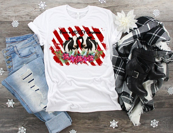 07ca66ee Have a Mooey Christmas shirt for women Cute Christmas tees | Etsy