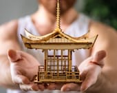Japanese Pagoda Lantern! A Mini 3D Kit Tea Light Candle Holder To Get Peace, Love, and Zen Back Into Your Busy Life