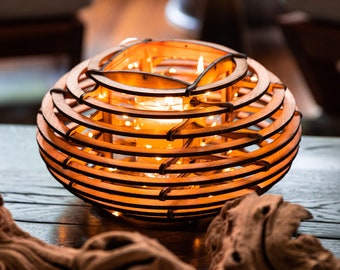 Mid-Century Modern Lantern Brings a Calm Vibe into Your Space. Inspired by Nature, this Nest lamp lights any room to create a retreat!