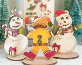 DIY Christmas Ornament Kits, Gingerbread Man & Snowman - Color and build your own design with fun pieces!