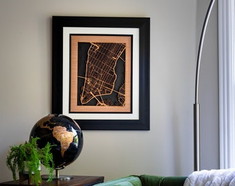 City Maps, Perfect Housewarming Gift! 3 sizes 8x10, 16x20, 24x36 Wooden Street Cutouts: New York, Seattle, Nashville, Chicago, & Many More!