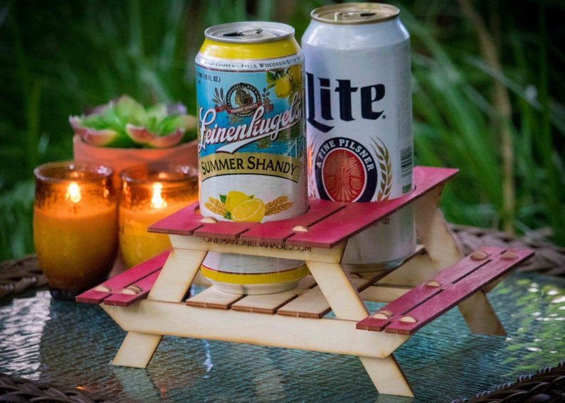 6429809fb3b Beer Holder or Condiment Rack A Mini Picnic Table 3D Kit