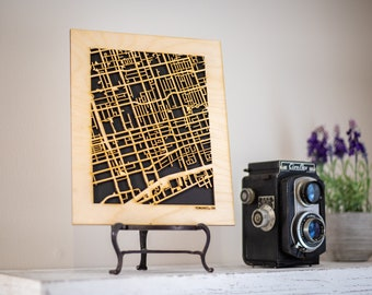50+ Well-Traveled World Destination City Street Maps. 8x10 Wood Cutouts. Your favorite places like: Sydney, Tokyo, Paris, plus Many More!