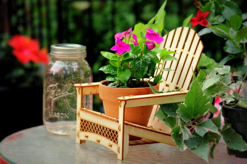 Adirondack Stuhl Outdoor Pflanzer Trinken Halter Strand Buddy Tafelaufsatz Party Dekorationen Usw Holz Bausatz Die Sie Zusammen Zu Reissen
