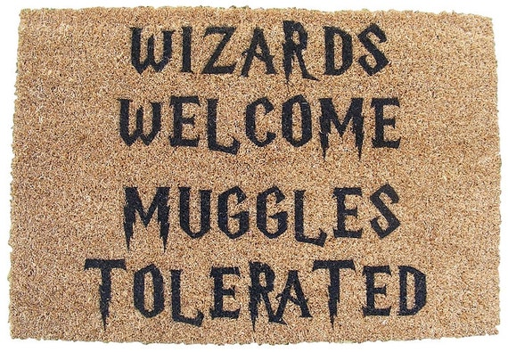 Harry Potter Inspired Wizards Welcome Muggles Tolerated Etsy