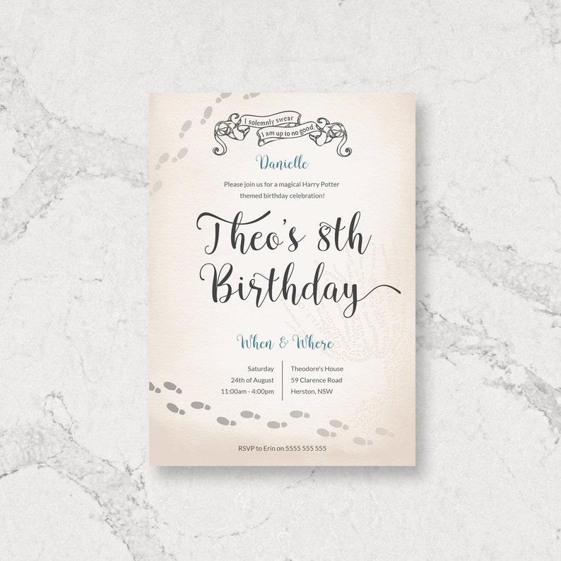 Wizard Map Birthday Invitation