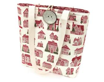 Cloth Handbags, Christmas Tote Bag, Cute purse, Bags and purses, Padded quilted tote bag, Ladies hand bags, Fashion Bags, Fabric handbags