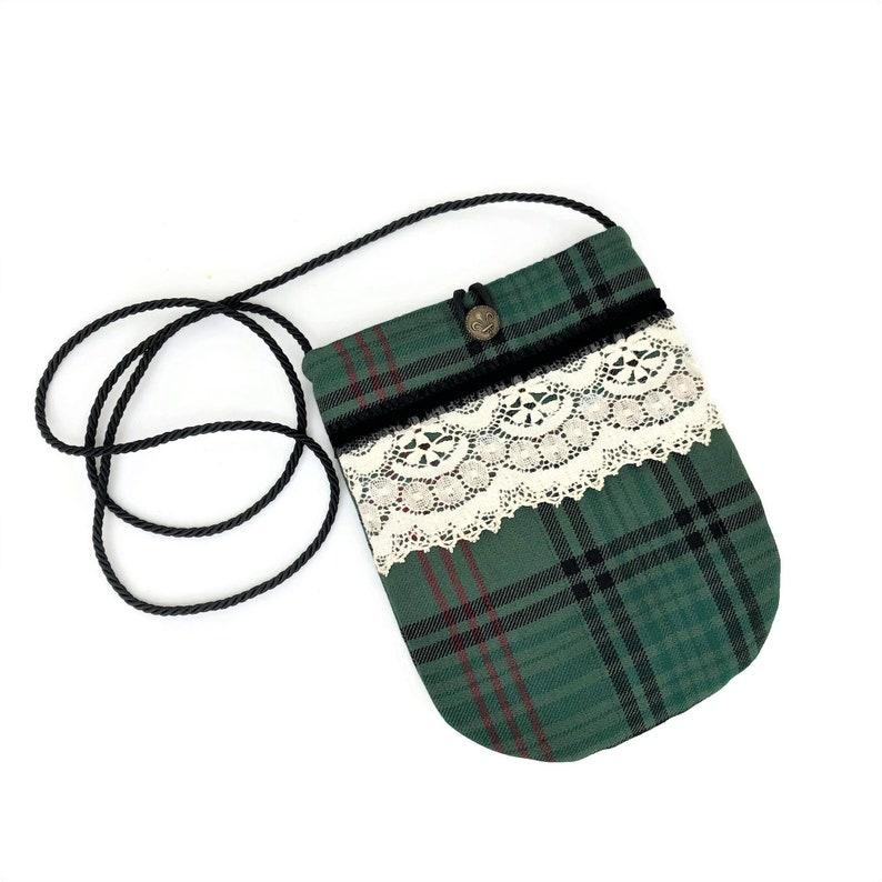Cloth Handbags Small Purse Tartan Plaid Crossbody Bag Cloth handbags Fall bags and purses Cute Purse Romantic Scottish Wool Pouch Bag
