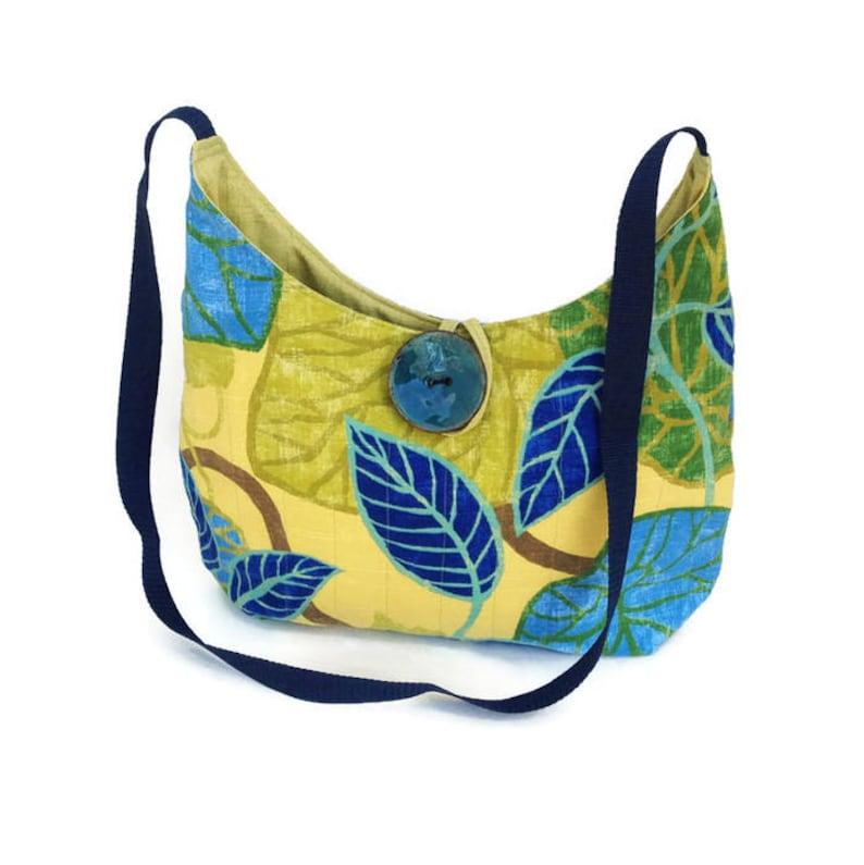 97318ae5ca Hobo bag Cross body bag Tropical handbag Citron green
