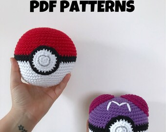 Patterns: Pokeball and Masterball (Digital PDF)