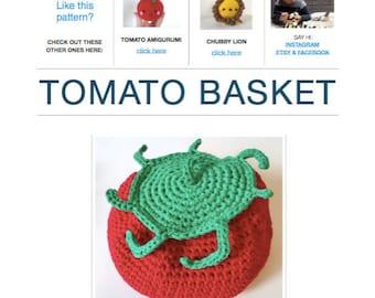 Pattern: Tomato Basket (Digital PDF File)