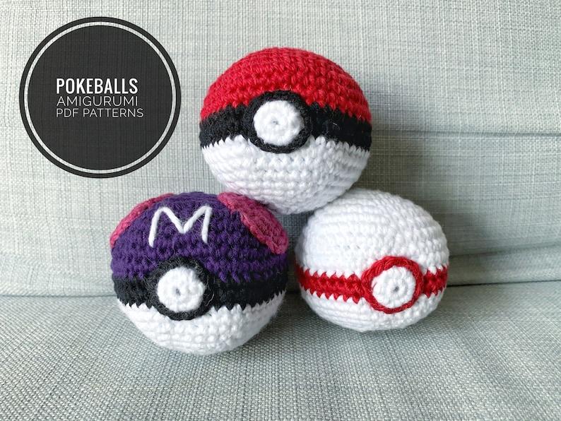 Patterns: Pokeball Masterball Premierball Amigurumi Digital image 0
