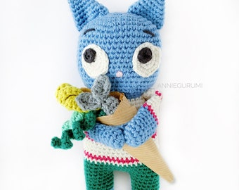Pattern: Orville The Kind Cat Amigurumi  (Digital PDF File)