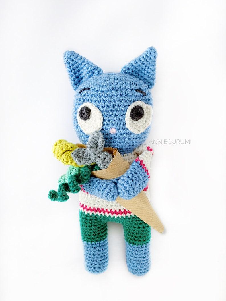 Pattern: Orville The Kind Cat Amigurumi  Digital PDF File image 0